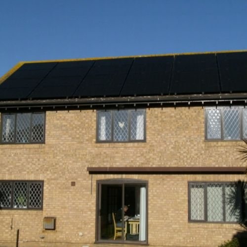 A 6.8 KWp System Using The All Black Solar Panel